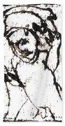 After Mikhail Larionov Black Oil Painting 16 Bath Towel