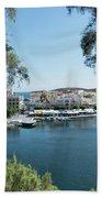 Agios Nikolaos Crete Bath Towel