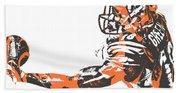 Aj Green Cincinnati Bengals Pixel Art 40 Bath Towel