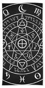 Alchemical Sigil Bath Towel