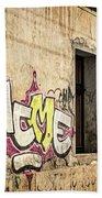 Alley Graffiti And Windows - Romania Bath Towel