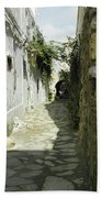 alley in Hammamet, Tunisia Bath Towel