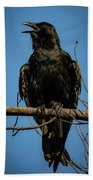 American Crow Bath Towel