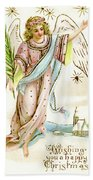 Angel  Carrying A Palm Branch Bath Towel