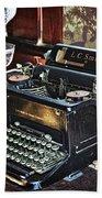 Antique Typewriter 2 Bath Towel