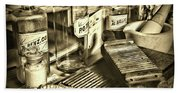 Apothecary-vintage Pill Maker Sepia Bath Towel