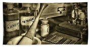 Apothecary-vintage Pill Roller Sepia Hand Towel
