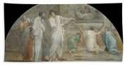 Apparition Of Saint Didacus Above His Sepulchre  Hand Towel