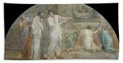 Apparition Of Saint Didacus Above His Sepulchre  Bath Towel