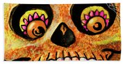 Aranas Sugarskull Of Spiders Bath Towel