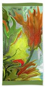 Orange Tulip Bath Towel