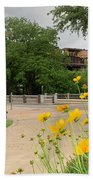 Urban Pathways Butler Park At Austin Hike And Bike Trail With Train Hand Towel