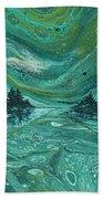 Aurora Borealis Treescape Hand Towel by Darice Machel McGuire