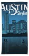 Austin Texas Skyline Bath Towel