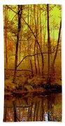 Autumn - Krasna River Bath Towel