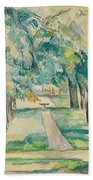 Avenue Of Chestnut Trees At The Jas De Bouffan  Hand Towel