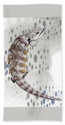 B Is For Blue Tongue Lizard Bath Towel