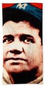 Babe Ruth, Portrait Bath Towel
