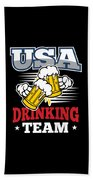 Bachelor Party Usa Drinking Team Beer Party Cheers Gift Bath Towel
