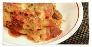 Baked Ziti Serving 2 Bath Towel
