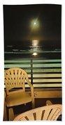 Balcony On The Pacific Oceanside California  Bath Towel