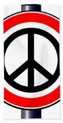 Ban The Bomb Road Sign Bath Towel