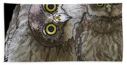 Barking Owls 2 Bath Towel