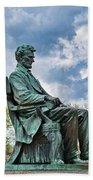 Bascom Hall Lincoln Statue Hand Towel