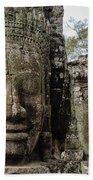 Bayon Faces, Angkor Wat, Cambodia Bath Towel