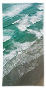 Beach Waves From Above Bath Towel