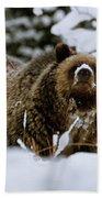 Bear In The Snow Bath Towel