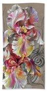 Beautiful Fantastic Realistic Flowers Bath Towel