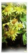 Bee On A Flower Bath Towel