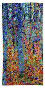 Beech Grove Abstract Expressionism Bath Towel