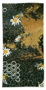 Bees And Daisys Hand Towel by Darice Machel McGuire