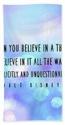 Believe Big Quote Bath Sheet