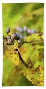 Berries And Aging Leaves 5709 Idp_2 Bath Towel