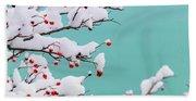 Berries And Cream Bath Towel