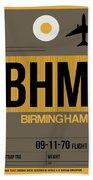Bhm Birmingham Luggage Tag I Bath Towel