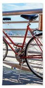 Bicycle At The Beach Hand Towel