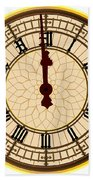 Big Ben Midnight Clock Face Bath Towel