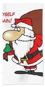 Big Fat Santa And Tiny Chimney Hand Towel