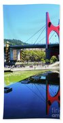 Bilbao Reflections Bath Towel by Rick Locke