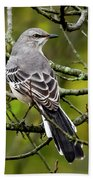 Mockingbird In Tree Bath Towel