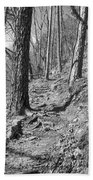 Black And White Mountain Trail Hand Towel