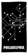 Black Philadelphia Subway Map Hand Towel