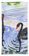 Black Swans - Soulmate Bath Towel