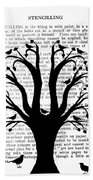 Blackbirds In A Tree - Central Hand Towel
