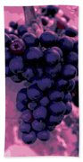 Blue Grape Bunches 6 Bath Towel