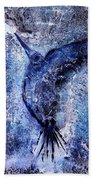 Blue Hummingbird Bath Towel